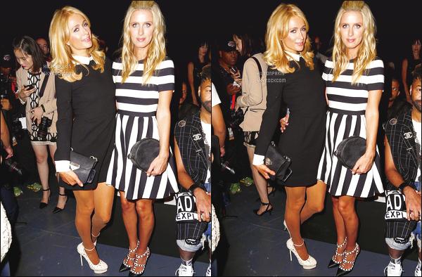 --------  15/09/15 :   Paris Hilton photographié assistant à la Fashion Week de « Michael Costello » - à New York.  Gros top pour la tenue, j'adore trop la robe courte, toute belle, toute sombre. Cela fait  Gossip Girl. Top aussi pour Nicky Hilton que j'adore.   --------