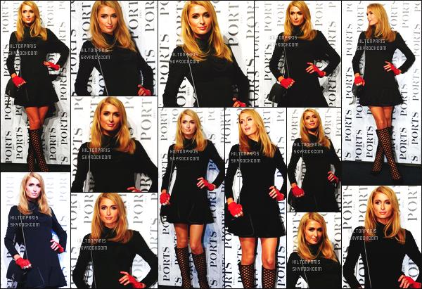 --------  13/10/15 :  Paris Hilton assistant à la Fashion Week de « Ports 1961 » Pringtemps/ Ete 2015 -  Shanghai.  J'adore bien la tenue de mlle Paris, elle est jolie dans cette petite robe courte. Top ses cheveux, j'aime beaucoup cette coiffure assez simple.   --------