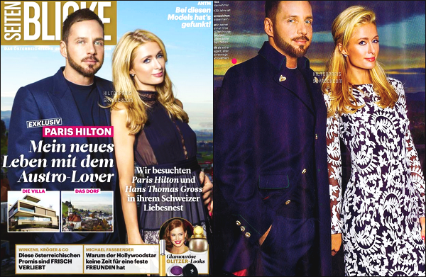 --------   • • Voici Paris  en shoot avec Thomas pour le magazine «  Seiten Blick » - Nov 2015  J'aime beaucoup toutes les photos, Paris est simple dans les bras de son petit ami Thomas, ils sont tres adorable ensemble, gros top.  --------