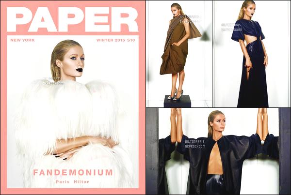 --------   • • Découvrez  Paris Hilton  en shoot avec  pour le magazine «  Paper » - Hiver 2015.  J'aime beaucoup toutes les photos, Paris est merveilleuse et assez glamour et sexy dans se genre de photos et ses tenues tres sexy.  --------