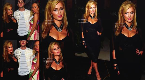 --------  03/12/15  :  Notre It Girl Paris Hilton photographié au dîner à l'hotel « The Dutch » dans la soirée. - Miami.  Ca va j'aime cette tenue, la robe est vraiment superbe, je suis tres fan de cette coiffure à Paris. Flop pour son collier. Sublime sur les photos.  --------