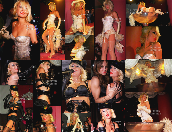 --------  16/02/08 :    Paris  Hilton   photographié en show pour les Pussycat Dolls dans une boite de nuit - Las Vegas.  Paris été en show dans la boite de nuit Pure Nightclub - J'adore les deux tenues de  Paris, et cette coiffure courte lui va va à ravie, gros top.  --------
