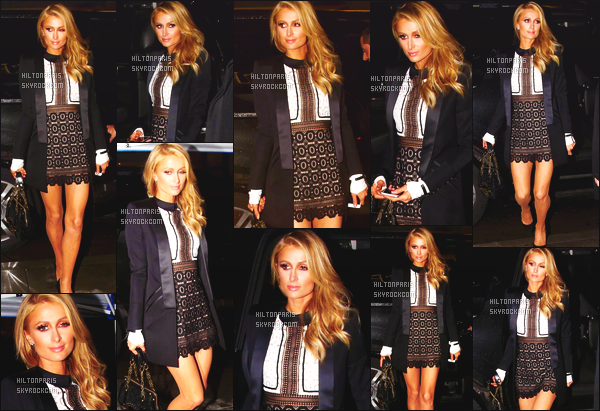 --------  06/01/16  : Jolie Paris Hilton photographiée arrivant au restaurant « Palm » dans la soirée - Beverly Hills.  Gros top pour la tenue de Paris, c'est tellement rare que Paris porte des jupe tailleur, je trouve que ça lui va bien. J'adore trop ses cheveux.  --------