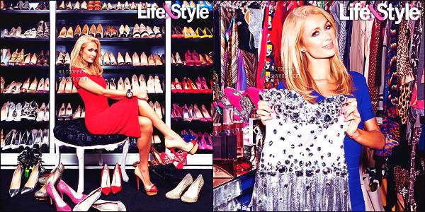 --------   •  Voici Paris  en shoot + interview  pour le magazine «  Life & Style  » - Janvier 2016.  Il y a quelques semaines sur snap, elle se faisait filmé entrain de se prendre en photo dans son dressing,  on sait que c'est pour Life & Style.  --------