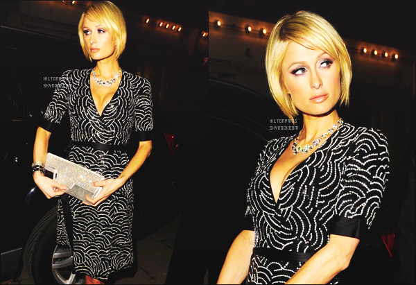 ------- 29/01/09: Jolie Paris  Hilton photographiée  photographiée arrivant à l'événement de  « Molton House » -   Londres. Elle est   top dans la coiffure courte, je lui accord un gros top vraiment pour la robe courte.  J'adore  la longueur de la robe et de la couleur.     -------