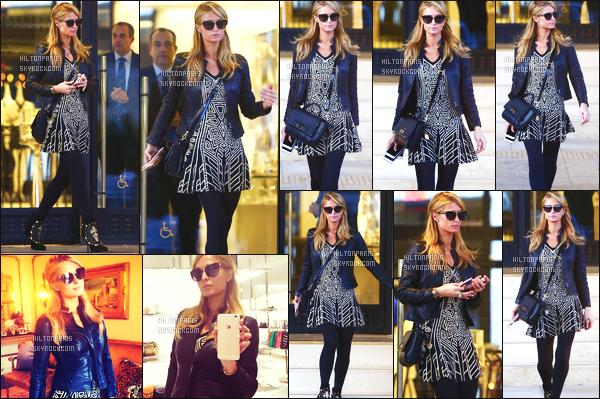 --------  02/02/16 :  Mlle Paris Hilton photographié dans la journée, quittant la boutique « Barneys » à Beverly Hills.  J'aime la nouvelle couleur de cheveux de Paris, un blond cendré, petite tenue simple et assez vue. J'aime beaucoup la paire de chaussure.  --------