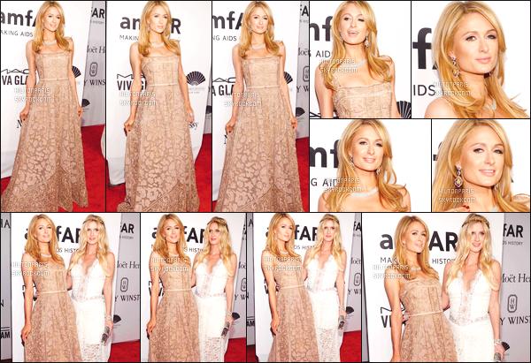 ------- 10/02/16:  Sublime Paris  Hilton  photographiée    assistant au grand gala de « amfAR » à New York dans la soirée. Gros top pour la robe rose de princesse, notre Paris est tellement sublime, je ne trouve pas les mots. J'aime aussi la coiffure laché simple. -------