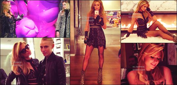 ---------  Voici les photos de mlle Paris sur les réseaux sociaux fêtant en avance son anniversaire à NY.  Vous pouvez la suivre en directe sur son Snapchat ~ RealParisHilton. Photos de Paris au restaurant avec Nicky et des amis à elle,  top.  ---------