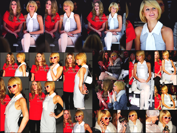------- 16/02/09: Notre sublime Paris  Hilton photographiée assistant à Fashion Week de « Pamella Roland » - New York. Paris Hilton toujours accompagné de sa soeur Nicky Hilton dans le grand marathon de la Fashion Week, petit top pour notre princesse.   -------