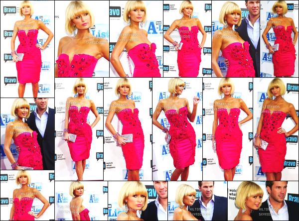 ------- 05/04/09:  La princesse Paris Hilton photographiée [/g ]  à l'événement « A-List Awards » dans la soirée -  Los Angeles.  Notre merveilleuse Paris Hilton est au top dans la tenue, je suis fan de sa robe rose moulante. Elle est accompagnée de Doug Reinhardt. -------
