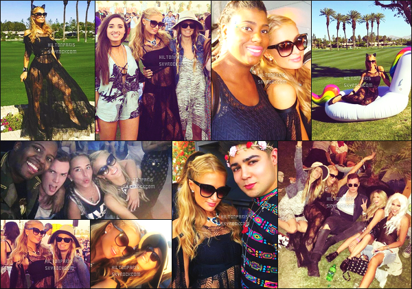 ------- 15/04/17: La sublime Paris Hilton  assistant ' au grand festival 'de musique Coachella dans la soirée - Californie. Gros top pour cette tenue qui va bien lors de se festival et qui est le style de Paris, elle est vraiment sublime. Elle s'amuse comme une folle. -------
