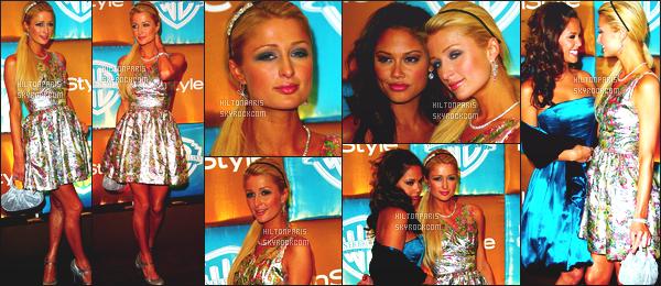 ------- 15/01/07 : La sublime  Paris Hilton  photographiée  assistant à l'événement de   In Style & WB GG - à Los Angeles. Petit top pour cette robe. Elle a fait largement mieux. Gros flop sinon pour cette coiffure. Je n'aime pas trop. Ni même le make up. Top/Flop?  -------