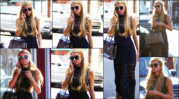 ------- 11/05/16:  Notre belle Paris  Hilton photographiée  entrain de faire du shopping dans la journée -   à Los Angeles. Gros flop pour cette robe, je n'aime pas du tout vraiment. Je trouve la longueur trop longue. Et limite cette dentelle sombre ne me plait pas.  -------