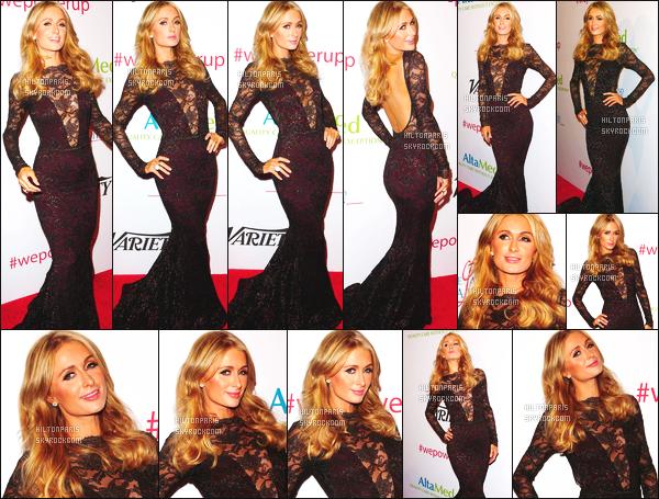 ------- 12/05/16: La jolie  Paris Hilton photographiée au gala de Altamed Power Up We Are the Future - à Los Angeles. Je suis super amoureuse de la robe. Cette robe est vraiment  magnifique. Gros top aussi pour la coiffure simple de princesse Paris Hilton.  -------
