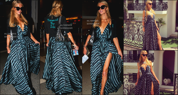 ------- 09/06/16: La magnifique  Paris Hilton photographiée arrivant à l'aéroport de LAX  dans la  soirée  - à  Los Angeles. Gros top pour la tenue, Paris est trop belle dans cette tenue et je suis tellement fan de cette veste : Sirene pour la vie. Top pour la coiffure.      -------