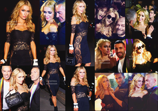 ------- 17/06/16:  La merveilleuse Paris  Hilton photographiée   arrivant  à l'événement du show de  Dsquared2 - à Milan.  Aussi des photos avec les fans lors de cette soirée. Je suis super fan de cette robe, elle est sublime mlle Paris, j'adore aussi la coiffure. -------