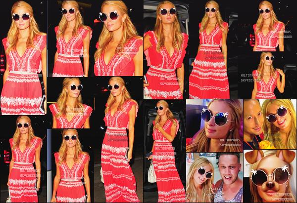 ------- 30/06/16: La magnifique  Paris Hilton photographiée arrivant à l'aéroport de LAX  dans la  soirée  -  à  Los Angeles. Paris s'envole pour Ibiza. Petit top pour la robe légère, j'aime bien bien la couleur, cela va à ravie à notre Paris, je suis beaucoup fan.  -------