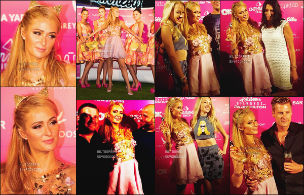 ------- 02/07/16: Princesse Paris Hilton photographiée arrivant  à sa grande soirée de DJ Foam And Diamond - à Ibiza. Elle est  tellement belle  dans cette robe, j'aime assez cette robe cela lui va bien, j'adore la longueur courte. Gros top pour belle Paris.   -------