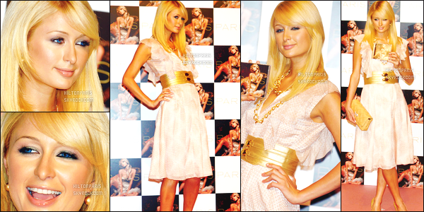 --------  28/06/06  :   La sublime Paris Hilton  photographiée en plein promotion pour son « album  »  -   Los Angeles.   Petit top pour cette sublime robe, c'est assez du vue et revue. Elle est quand même tellement sublime, j'adore cette coiffure sur Paris Hilton. --------