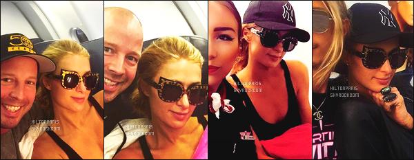 """--------------------------------------  """"""""RESEAUX SOCIAUX"""""""" Découvrez les dernières photos de mlle Paris toujours  actif sur Instagram ou Snapchat. Aout 2016 -  Paris Hilton qui rentre à Los Angeles elle a ete vue dans l'avion avec des fans tres chanceux. Top pour ses lunettes de soleil. --------------------------------------"""