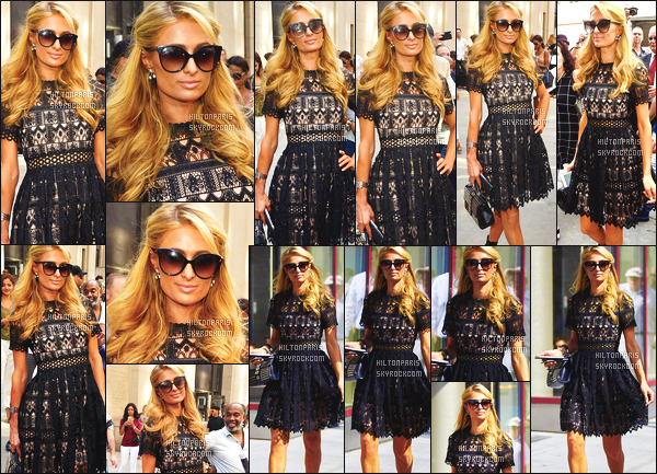 ------- 07/09/16:  Paris Hilton  photographiée à la Fashion Week de Michael Costello avec son frere  Barron - à  New York.    Gros top pour la tenue à Paris Hilton, j'aime  trop cette petite robe, Paris est tellement sublime dans la robe large et souple. Top/Flop ?   -------