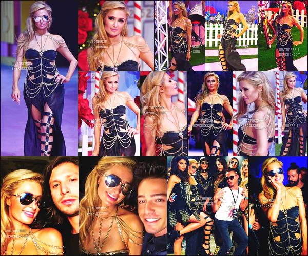 ------- 21/09/16: Notre sublime  Paris Hilton photographiée   défilant à la grande Fashion Week de  Philipp Plein  - Milan.     Gros top pour la tenue à Paris Hilton, j'aime  trop  Paris est tellement sublime, elle a vraiment la classe. Je suis assez fan, top. Top/Flop? -------