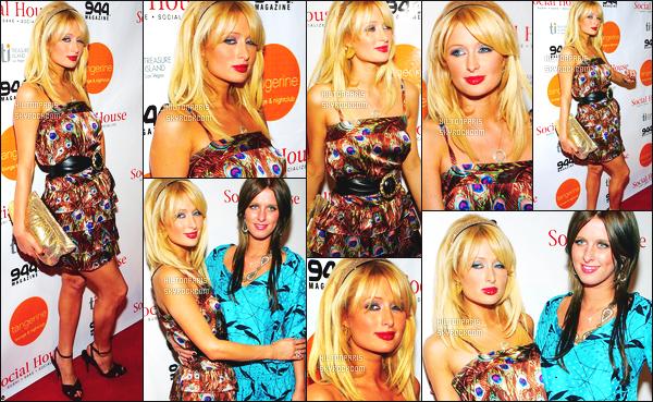 --------  06/10/06  :    Princesse Paris Hilton photographiée lors la soirée   « Welcomes Social House »   - à Los Angeles.   Elle est accompagnée de sa soeur Nicky. Je suis hyper fan de la mise en beauté de Paris, elle est divine. Gros top  pour la robe. Top/Flop?--------