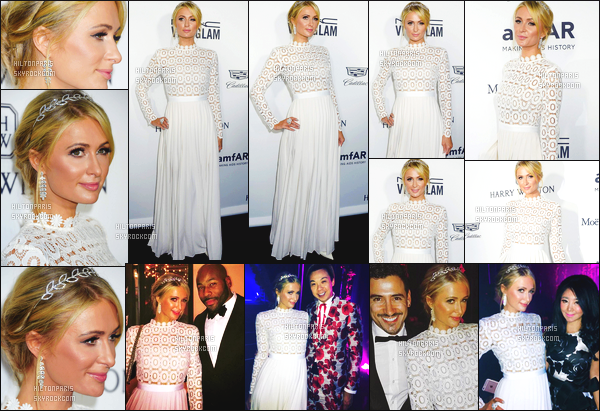 ------- 27/10/16: La magnifique Paris Hilton photographiée assistant au grand gala Amfar dans la soirée -   Los Angeles.  Notre princesse Paris Hilton est vraiment sublime dans la robe si sublime, je lui accorde vraiment un gros top.  Elle est parfaite. Top/Flop?  -------