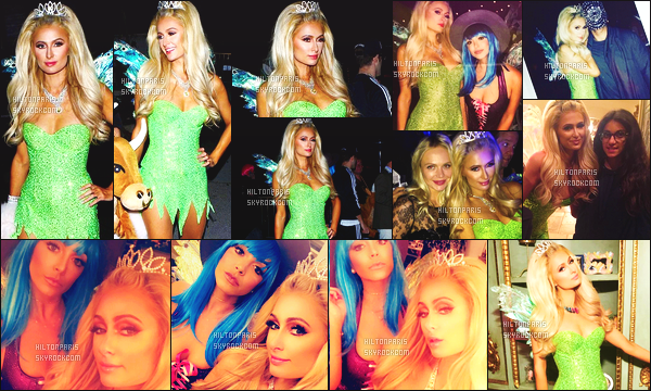 ------- 31/10/16: La magnifique Paris Hilton photographiée deguisé allant à une soirée pour    Halloween -   Los Angeles.   J'adore  se déguisement, miss Paris est en fée Clochette, cela lui va vraiment se genre de tenue super sexy. J'adore ses cheveux. Top/Flop? -------