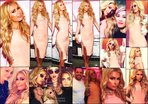 ------- 02/11/16: Notre magnifique Paris Hilton photographiée assistant à l'événement de    Pop & Suki - à Los Angeles.   J'adore la tenue, la robe rosé va tellement bien à notre sublime Paris, je lui accorde vraiment un énorme top. Je suis amoureuse. Top/Flop? -------