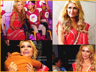 ------- 10/11/16: Notre sublime Paris Hilton passant du temps avec des enfants malade dans un hôpital    - au Mexique. Mlle Paris Hilton a vraiment peu de temps pou se reposer un peu. Elle enchaine apparition sur apparition. Top pour cette robe. Top/Flop?    -------