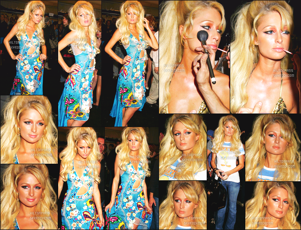 ------- 12/09/06 : Sublime Paris Hilton photographiée  assistant à la grande Fashion Week de Heatherette à New York. J'aime trop la tenue bleue, on dirait une siréne, je suis fan de cette tenue mais petit flop pour cette coiffure et son make up. Ca fait chargé.  -------