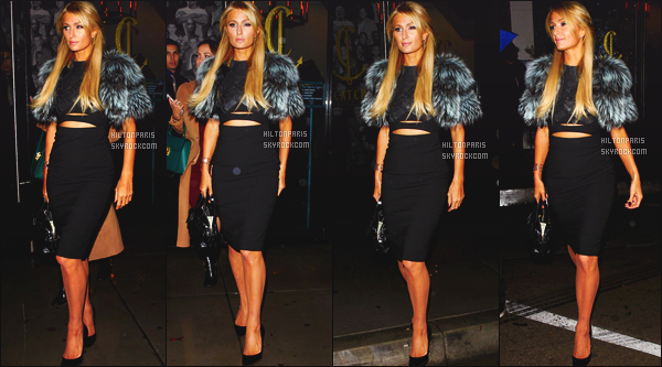 ------- 23/12/16:  Notre sublime Paris Hilton photographiée quittant le restaurant  Catch  dans la soirée -   à Los Angeles. Gros top pour la robe assez sexy. Miss Paris   est vraiment à tomber par terre, j'aime trop la veste. Elle est tellement parfaite. Top/Flop?    -------