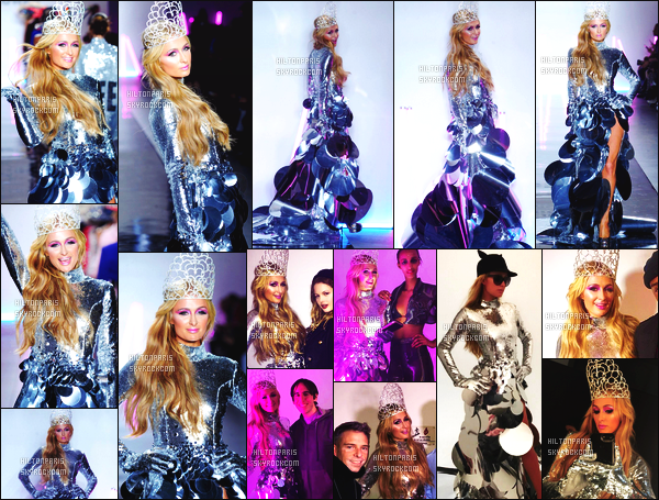 ------- 09/02/17: La princesse Paris Hilton   photographiée défilant à la Fashion Week de   Christian Cowan   -  à   New York. Gros top pour toutes les tenues quelle porte. Je suis vraiment fan de la premiere tenue en tous cas sur la belle Paris, ça lui va trop bien.  -------