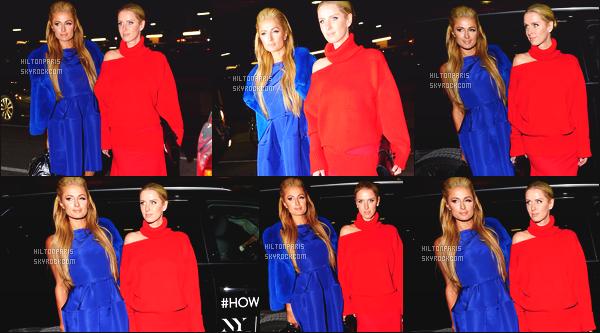------- 13/02/17: Princesse Paris Hilton  photographiée assistant à la Fashion Week de  Oscar De La Renta  -    New York. Elle est accompagnée de sa petite soeur Nicky. Gros top pour la robe et son manteau tout bleu. Paris est tellement sublime, j'aime la coiffure. -------