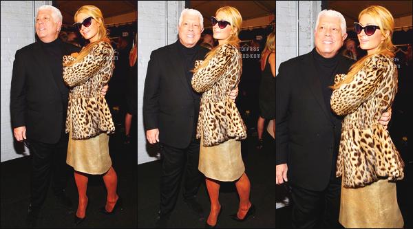 ------- 14/02/17: Notre princesse  Paris Hilton  photographiée assistant à la Fashion Week de  Dennis Basso -  New York. Adorable Paris Hilton est tellement belle, elle se la joue classe et glamour. Gros top pour la  robe et la veste. J'aime bien ses lunettes de soleil. -------