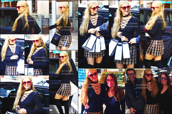 ------- 22/02/17:  Notre belle Paris  Hilton photographiée  entrain de faire du shopping dans la journée -   à Los Angeles.  Gros top pour cette tenue, qui lui va trop bien elle fait si jeune, j'aime beaucoup tellement, j'adore aussi ses bottes  et ses lunettes de soleil.  -------