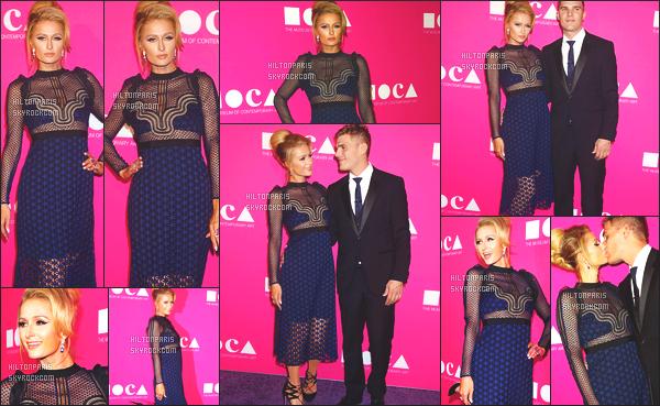 ------- 30/04/17: Notre sublime Paris Hilton  assistant 'avec Chris  au gala de  The Geffen Contemporary - à Los Angeles Paris est vraiment toute belle dans cette grande robe assez original, j'aime beaucoup ses cheveux attaché en arrière. Je lui met un gros top.  -------