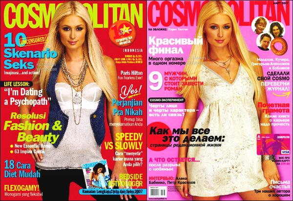 ----------- • •  Découvrez deux couvertures de Paris  pour le magazine Cosmopolitain   -  Mars 2007.    J'aime assez   ses deux couvertures, elles sont tellement belle. J'adore trop la deuxieme couvertures, elle est tellement magnifique Paris. -----------