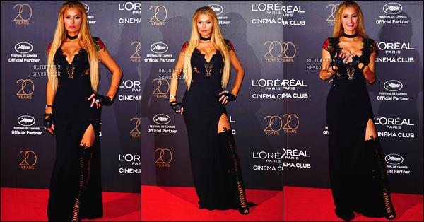 ------- 23/05/17:  Sublime Paris Hilton photographiée au grand événement  20 ans de l'Oreal à  Cannes dans la soirée.  Je lui accorde un gros top pour Paris, j'adore assez. Elle est  merveilleuse. En se moment Paris opte pour le style robe tres longue fendu. -------