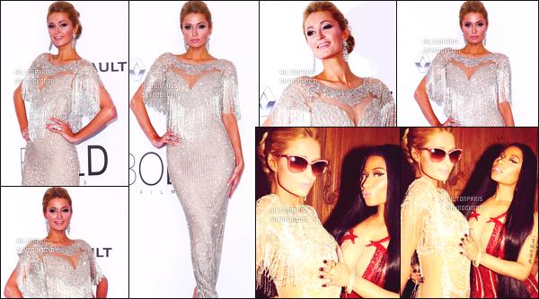 ------- 24/05/17:  Notre princesse Paris Hilton photographiée au grand événement  Amfar's dans   Cannes dans soirée.  Je lui accorde un gros top pour Paris, j'adore assez. Elle est  merveilleuse.  J'aime assez les deux photos avec la rappeuse Nicki Minaj. -------