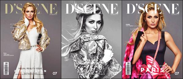 ----------- • • Découvrez notre Paris Hilton en shooting pour le magazine  D'SCENE - Juin 2017.    J'adore beaucoup toutes les photos, Paris est tellement belle et   magnifique je lui accorde un gros top. Certaines tenues sont de Moschino.  -----------