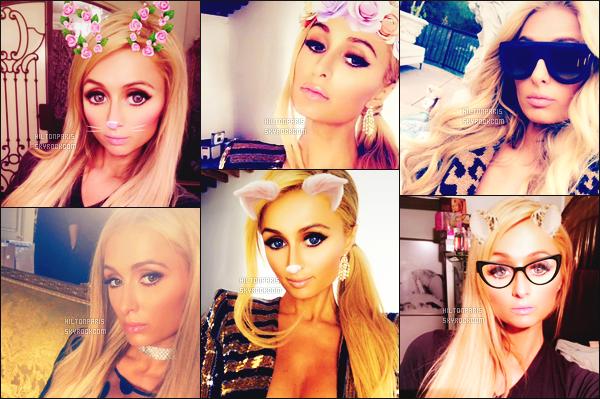 """--------------------------------------  """"""""RESEAUX SOCIAUX"""""""" Découvrez les dernières photos de mlle Paris toujours  actif sur Instagram ou Snapchat. Juin 2017 -  Voila les dernières photos de notre princesse Paris Hilton sur Snap, elle est trop mignonne j'adore beaucoup avec les effets. --------------------------------------"""
