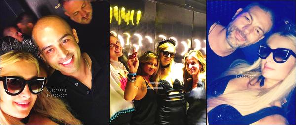 """--------------------------------------  """"""""RESEAUX SOCIAUX"""""""" Découvrez les dernières photos de mlle Paris toujours  actif sur Instagram ou Snapchat. Juillet 2017 -  Des photos de notre princesse Paris au festival de HïIbiza  à Ibiza dans la soirée avec des fans. Top pour cette robe. --------------------------------------"""