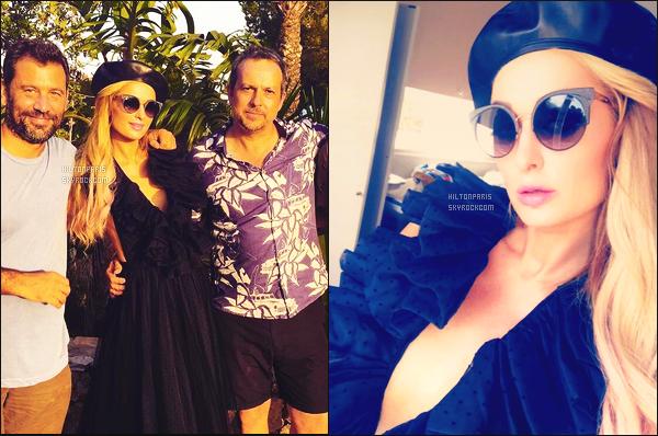 """--------------------------------------  """"""""RESEAUX SOCIAUX"""""""" Découvrez les dernières photos de mlle Paris toujours  actif sur Instagram ou Snapchat. Juillet 2017 -   Deux photos de notre princesse Paris dans la journée sur le tournage d'un shooting secret dans Ibiza. J'adore son   beret. --------------------------------------"""