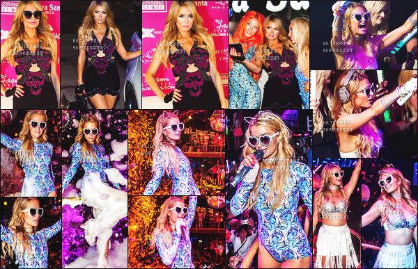 ------- 20/08/17: La princesse  Paris Hilton  photographiée   entrain de mixer à sa soirée de  Foam And Diamond   -  à Ibiza.    J'aime  toutes ses tenues. Cela lui va   bien,  gros top je lui accorde. J'adore trop aussi ses longs cheveux lisse. Elle est  vraiment parfaite.    -------