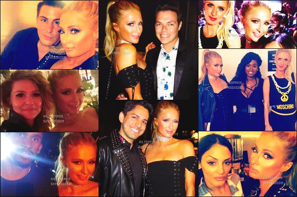 ------- 08/09/17: La princesse Paris Hilton  photographiée  assistant à la grande soirée   de Harper's Bazaar - à New York.  Elle est accompagnée de sa petite s½ur Nicky. Je lui accorde un gros top, j'adore trop la robe avec la veste en cuire. Top pour la coiffure. -------