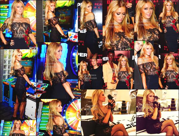 ------- 11/09/17: La princesse Paris Hilton  photographiée assistant à la grande  soirée  de  Paper Magazine  -     New York. Gros top pour la longue robe noire courte, je suis assez fan, la miss Paris Hilton est tellement sublime, j'aime trop cette coiffure lâché. -------