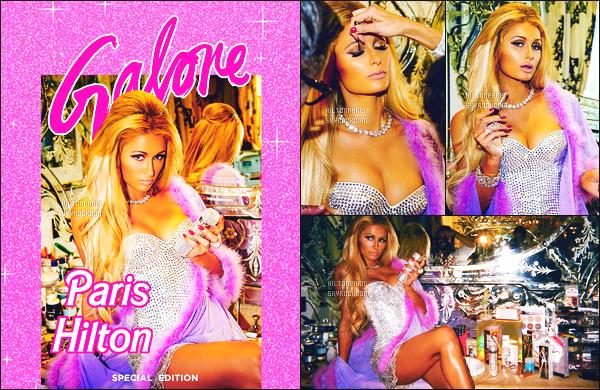 --------       Découvrez la sublime Paris Hilton  en shooting pour  « GALORE  » - Septembre 2017.   Découvrez aussi l'interview que j'ai tout traduit moi même. J'adore assez l'univers des photos, cela lui ressemble tellement, ca fait Barbie.   --------
