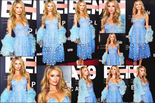 ------- 11/10/17:  Sublime Paris Hilton photographiée  assistant à l'avant premiere de l'album de son amie Demi Lovato.  + Des photos sur les reseaux sociaux. Je lui accorde un gros top pour la robe. Je suis fan de la robe de princesse. Top pour ses cheveux.  -------